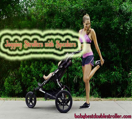 Jogging Strollers with Speakers | Jogging Stroller with MP3 Speakers